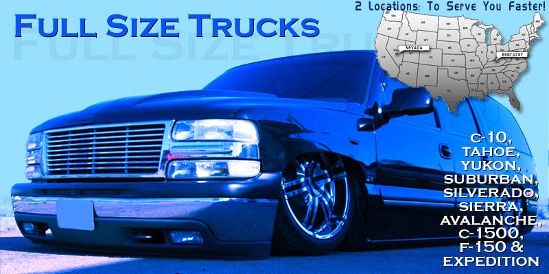 Air Ride Suspension: Full Size Trucks: 4 Link Kits